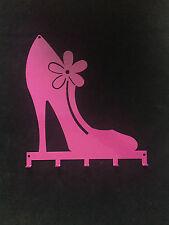 Wandgarderobe Wandhakenleiste PUMPS m. 5 Haken Farbe: pink perlmutt, 32 x 30,6cm