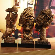 4 Types Thinker Ornaments Figurine Statue Sculpture Artwork Desktop Home Decor