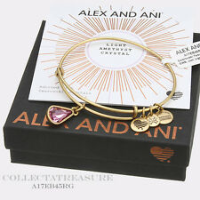 Authentic Alex and Ani Teardrop June Birthstone Rafaelian Gold Bangle