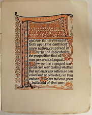ILLUMINATED MANUSCRIPT STYLE Gettysburg Address ABRAHAM LINCOLN Tudor Press