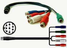 8-pin DIN Male Connector To Legacy RGB 5 RCA Breakout Cable