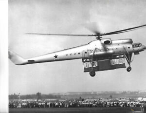 RUSSIA MILITARY 1960 Largest Soviet Aerial Crane Helicopter Mil Mi-10 TOP PHOTO