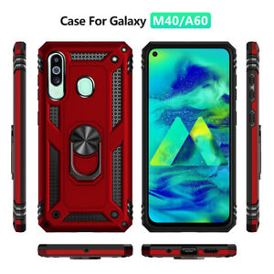 For Samsung Galaxy A20E A70 M10 Military Armor Case Magnetic Ring Holder Cover