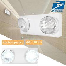2 Head LED Exit Emergency Light Lighting Ultra-Bright LED Light/ Battery Back-up