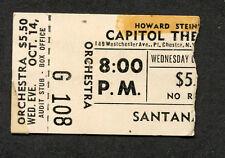Original 1970 Santana Concert Ticket Stub Abraxas Capitol Theatre Port Chester