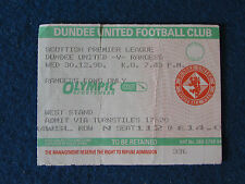 Dundee United v Glasgow Rangers - 30/12/98 - Ticket