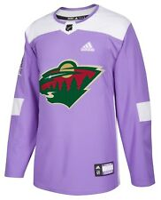 Minnesota Wild Hockey Fights Cancer Mens Authentic Jersey S