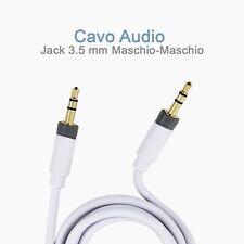 Cavo Audio AUX KENNEX AU31-WH Jack 3.5 mm Maschio-Maschio (1 metro)