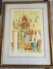 """Shmuel Katz """"An Ancient Synagogue in Safed"""" Signed Print number 3/195 lithograph"""