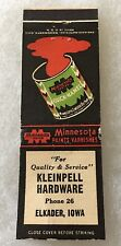 Elkader Iowa KLEINPELL HARDWARE .. Phone 26 @@ MATCHBOOK COVER NICE!