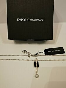 Genuine Emporio Armani Ladies Necklace Sterling Silver with tags and boxes