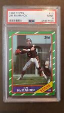 1986 Topps Football #10 Jim McMahon card PSA 9 Mint! Chicago Bears!