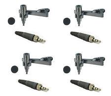 4 Lapel Lavalier Mic for Sennheiser Transmitter G3 G2 Omnidirectional EW100,300