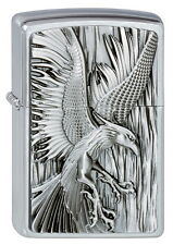Zippo Phoenix on Fire # 2002724 Chrom gebürstet mit Emblem regular size