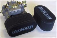 2 x RAMAIR carb double trumpet filter socks Weber DCOE Dellorto DHLA 75mm CS-901