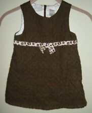 Gymboree Kitty Glamour Brown Quilted Jumper Dress 18 24