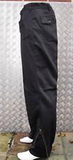 Negro Estilo Italiano ARMY pantalones. Rodilla acochadas y cremalleras.