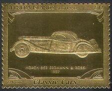 Bernera (L) Horch 853 Erdmann & Rossi/Vintage Car/Gold/Transport/Cars 1v s6048h