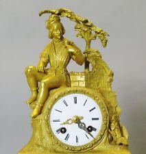 Superb French Empire Orientalist Gilt Bronze Clock w/ Persian  c. 1840  antique