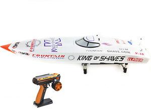 G26IP1 26CC White Fiber Glass 50KM/H Gasoline Race ARTR RC Boat W/ Radio System