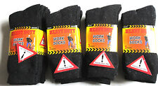 Ultimate 12 Pairs Mens Black Thermal Socks, Thick Warm Work Boot Socks Size 6-11