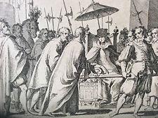 Antonio TEMPESTA Jacques CALLOT pompe funèbre Marguerite d'Autriche eau-forte