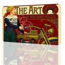METAL TIN SIGN The Art Of Motorcycles 1917 Classic Unique Poster Decor Garage