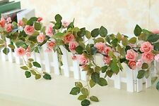 2 Artificial Champagne Flowers Vine Hanging for Wedding Arch Decoration