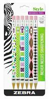 Zebra Style #2 Mechanical Pencil 0.7mm Point Size Assorted Barrel Patterns 6 pcs