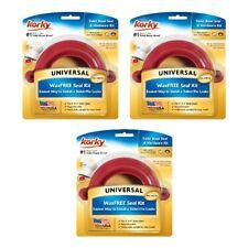 Korky Universal Wax Free Toilet Seal Kit With Hardware Plumbing 6000BP, 3-Pack
