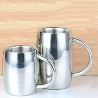 Barrel Stainless Steel Camping 2 Wall Insulated Cup Tea Large Coffee Beer Mug