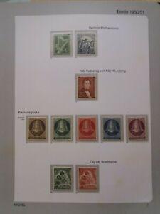 Briefmarken Berlin postfrisch 1950-1953