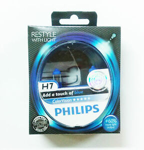 Philips Colorvision Bleu H7 12V 55W 12972CVPBS2 (Paire)