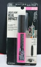 New Maybelline Great Lash Real Impact Mascara-250 Blackest Black