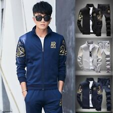 Set Sport 2pcs Men Jogging Casual Jacket+Pants Tracksuit Sportswear Athletic