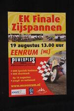 Card / Flyer EK Finale Zijspannen 19 augustus 2007 Eenrum (HW)