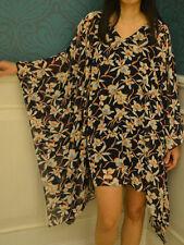 D30 Kaftan Caftan Tunic Floral Casual Poncho Blouse Chiffon Batwing Top L XL 2XL
