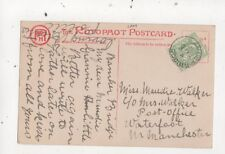 Miss Maudie Walker Post Office Waterfoot Manchester 1906  805a