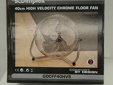DIMPLEX GDCFF40HVS 40CM HIGH VELOCITY CHROME FLOOR FAN 65W