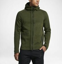 Mens Nike Tech Fleece Full Zip Hoodie Size XL (832112 331) Green / Black