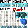 Funny Beer Stein Frosted Glass Novelty Pint 16oz Birthday Gift - SUPER BG1