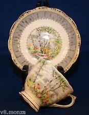 1940'S Royal Albert SILVER BIRCH English Bone China Teacup & Saucer Set