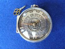 Buchsman London 1700 Spindeltaschenuhr verge fusee watch montre coq oignon
