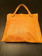 GIANNI CHIARINI TAN LEATHER BASKET WEAVE SHOULDER BAG WITH GOLD HARDWARE