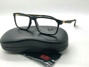 AUTHENTIC Ray Ban RB 7056 5644 MATTE BLACK  Eyeglasses 55-17-145MM/CASE