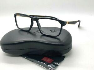 AUTHENTIC Ray Ban RB 7056 5644 MATTE BLACK  Eyeglasses 55-17-145MM/CASE