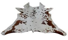 "Cowhide Rugs Calf Hide Cow Skin Rug (32""x38"") Brown and White CH8040"