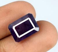 Ceylon Blue Sapphire Natural Emerald Cut Gemstone 8-10 Ct/11mm AGSL Certified