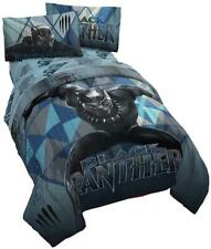 Jay Franco Marvel Black Panther Blue Tribe Twin Comforter - Super Soft Kids.