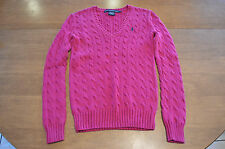 Women's Ralph Lauren Sport V Neck Knit Sweater Size Small (S)